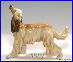 Lladro Afghan Hound #1282 Dog Looking Up $555 Value Mint Condition
