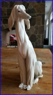 Lladro Afghan Hound Dog 12 Tall Figurine # 1069 Excellent