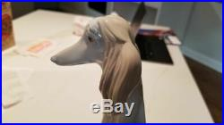 Lladro Afghan Hound Dog 12 Tall Figurine # 1069 Excellent