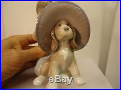 Lladro An Elegant Touch, girl with dog #6862. 6 mint condition