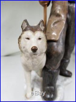 Lladro Arctic Explorer LLADRO SNOW WINTER FIGURINE DOG MAN ESKIMO