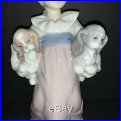 Lladro Arms Full of Love 6419 in BOX Girl with Puppy Dogs Porcelain Figurine