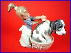 Lladro Bashful Bather Dog Figurine #5455 Retails For $280.00