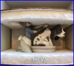 Lladro Bashful Bather Girl with Dog Figurine # 5455 Mint in original box Spain
