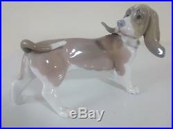 Lladro Basset Hound Dog Standing Figure. Retired
