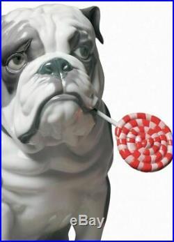 Lladro Bulldog with Lollipop Dog Figurine 01009234