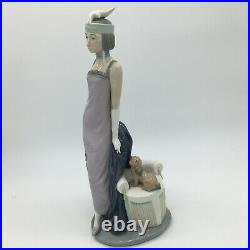 Lladro COUPLET Lady with Dog a 1920's Flapper Girl Figurine #5174 13.5 1982