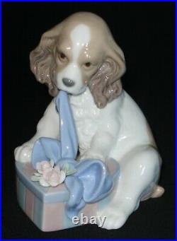 Lladro Can't Wait Dog Porcelain Figurine # 8312 Mint