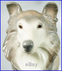 Lladro Ceramic Figurine Collie Dog #6455 10.25 L125