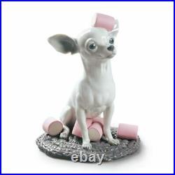 Lladro Chihuahua with Marshmallows Dog