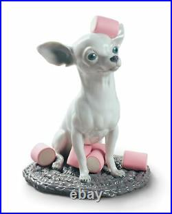 Lladro Chihuahua with Marshmallows Dog Figurine 01009191