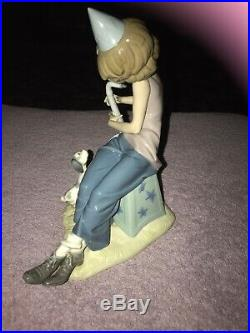 Lladro Clown with Saxophone and Dog Glossy Fine Porcelain Figurine #5059 10