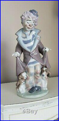 Lladro Clown with dogs under coat