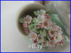 Lladro Collectors Series It Wasn't Me Dog With Flower Pot # 7672 Travesura EUC