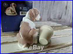 Lladro Collectors Society 1998 IT WASNT ME 7672 Dog Flower Porcelain Figurine