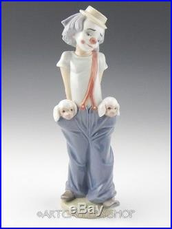 Lladro Collectors Society Figurine LITTLE PALS CLOWN WITH DOGS #7600 Mint