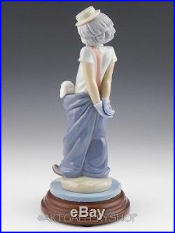 Lladro Collectors Society Figurine LITTLE PALS CLOWN WITH DOGS #7600 Mint Base