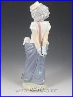 Lladro Collectors Society Figurine LITTLE PALS CLOWN WITH DOGS #7600 Mint Box