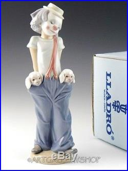 Lladro Collectors Society Figurine LITTLE PALS CLOWN WITH DOGS #7600 Mint in Box
