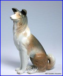 Lladro Collie #1316 Shepherd Dog Retired 36 Years $550 Value Mint