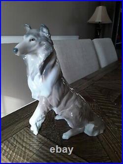 Lladro Collie Dog Porcelain Figurine #6455