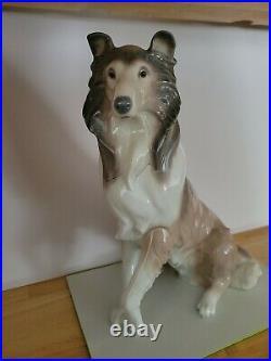 Lladro Collie Dog Porcelain Figurine #6455 Artist José Luis Alvarez Rare