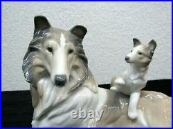 Lladro Daisa Collie Dog Mother with Puppy Porcelain Figurine #6459 -W