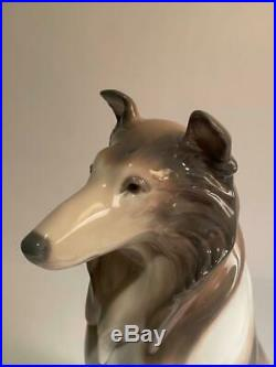 Lladro Daisa Collie Figurine 6455 Glossy Porcelain Dog Made in Spain No Box