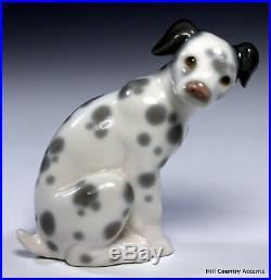 Lladro Dalmatian # 1260 Dog Sitting Puppy No Box Mint