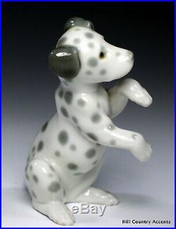 Lladro Dalmatian # 1262 Dog Sitting Up Cute Puppy! No Box Mint