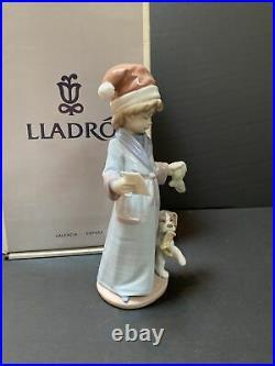Lladro Dear Santa #6166 Boy & dog waiting for Santa- Orig box WithCOA