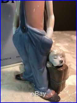 Lladro Destination Big Top 6245 Clown Figurine Traveling Luggage Poodle Dog MIB