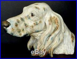 Lladro Dog Head Figurine, English Setter Irish Orange Belton Large. Hound