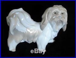 Lladro Dog Porcelain Lhasa Apso/tibetan Terrier Rare Glazed Figurine #4642 Mint