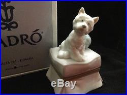 Lladro Dog Statue # 06985 My Favorite Companion Mint Condition In The Box