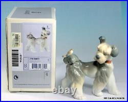 Lladro Dog Unexpected Visit # 6829 Puppy With A Bird On His Tail Mib