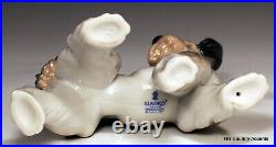 Lladro Dog Unexpected Visit # 6829 Puppy With A Butterfly On His Tail Mib