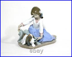 Lladro Dog's Best Friend 5688 Girl With Dog