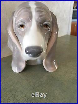 Lladro Dogs Head #1149 Beagle Bassett