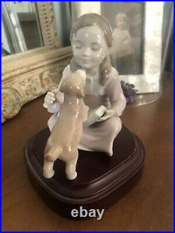 Lladro Dont Be Impatient Girl with dog