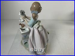 Lladro Down You Go Puppy Dogs on Slide with Pool Gloss Finish Figurine 6002