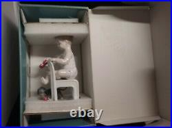 Lladro Fetch My Shoe Girl with dog Dachshund #01008524 New with Box