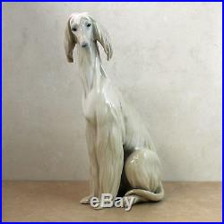 Lladro Figurine, 1069 Afghan Dog Sitting, 11.5H -withBox