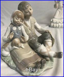 Lladro Figurine 1230 FRIENDSHIP Boy & Girl With Puppy Dog Mint