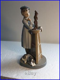 Lladro Figurine 5358 Little Sculptor Mint, Retired, Artist, Boy, Dog