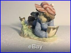 Lladro Figurine 5451 Study Buddies Excellent, Retired, Boy Dog Books (C)