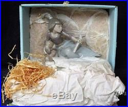 Lladro Figurine 5475 A Lesson Shared Retired, Mint, Girl with book & puppy dog