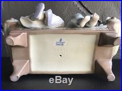 Lladro Figurine #5735 Big Sister Girls Dog Couch Mint Condition