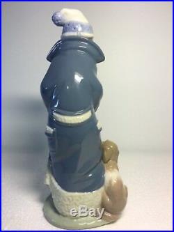 Lladro Figurine 6019 Friday's Child, Mint, Retired, Boy, Winter, Dog, Puppy