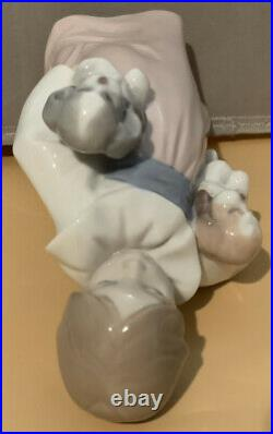 Lladro Figurine #6419 Arms Full of Love Girl Holding Dogs